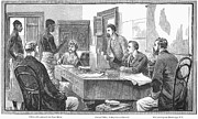 Black Commerce Framed Prints - Africa: Slave Trade, 1881 Framed Print by Granger