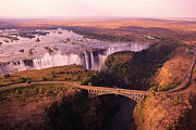 Zimbabwe Photos - Africa, Zimbabwe, Victoria Falls by Larry Dale Gordon