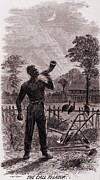 African Americans Prints - African American Blowing The Wake-up Print by Everett