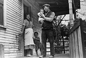 African American Family Prints - African American Coal Miner, His Wife Print by Everett