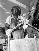 African-americans Art - African American Construction Worker by Everett