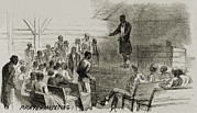 African Americans Prints - African American Freedmen In A Prayer Print by Everett
