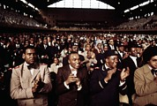 Nation Of Islam Framed Prints - African American Men Applaud Black Framed Print by Everett