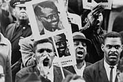 African American Men At A Black Muslim Print by Everett