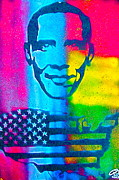 Tea Party Paintings - African-American Obama by Tony B Conscious