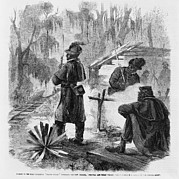 African American Pickets Of The First Print by Everett