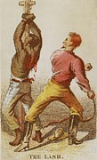 African Americans Framed Prints - African American Slave Being Whipped Framed Print by Everett