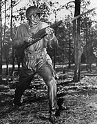 African-americans Metal Prints - African-american Soldier Charging Metal Print by Everett