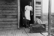 African-americans Framed Prints - African American Women In A Doorway Framed Print by Everett
