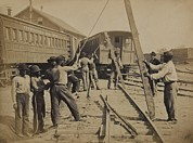 African-americans Prints - African American Work Crew In Northern Print by Everett