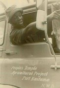 Communal Posters - African American Worker In A Truck Poster by Everett