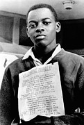 African-americans Posters - African American Youth Protests Poster by Everett