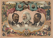 Student Union Framed Prints - AFRICAN AMERICANS, c1881 Framed Print by Granger