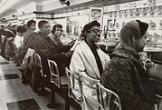 Candid Portraits Photo Prints - African Americans Sit In Protest Print by Everett