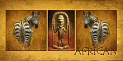 Africa Mixed Media Prints - African Print by Angela Doelling AD DESIGN Photo and PhotoArt