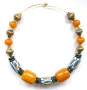 Honey Jewelry - African Beads and Amber by Pat Stevens