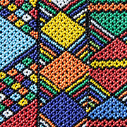 African Beadwork 2 Print by Neil Overy