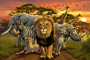 African Beasts Print by Andrew Farley