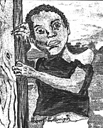 Roberto Drawings - African Child by Roberto Edmanson-Harrison