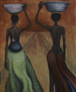 African Paintings - African Desires by Kelly Jade King