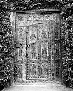 Parker Photos - AFRICAN DOOR BW Palm Springs by William Dey