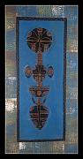 Featured Tapestries - Textiles Originals - African Motif12 by Peter Otim Angole