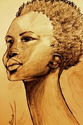 Husband Drawings Posters - African Pride Poster by Dareen J Hasan