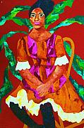 Portraits Paintings - African Princess by Carole Spandau