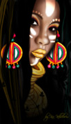 African Cloth Posters - African Princess Poster by Kia Kelliebrew