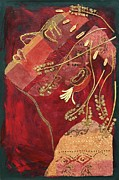 Diane Fine Mixed Media Metal Prints - African Queen Metal Print by Diane Fine