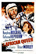 Films By John Huston Framed Prints - African Queen, Poster Art, Humphrey Framed Print by Everett
