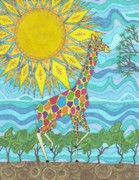 Childrens Art Drawings - African Rainbow by Pamela Schiermeyer