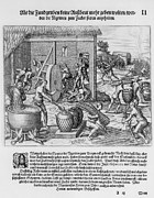 African-americans Metal Prints - African Slaves Processing Sugar Cane Metal Print by Everett