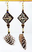 Style Jewelry - African Tribal Earrings by Virginia Vivier