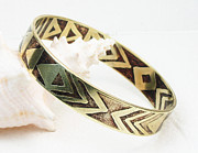 Bangle Jewelry - African Tribal Etched Bangle by Virginia Vivier