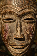 Tibet Prints - African tribal mask. Print by John Greim