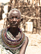 Black Clothes Prints - African tribal woman Print by Anna Omelchenko