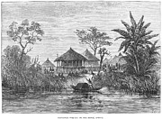 1878 Photos - African Village, 1878 by Granger
