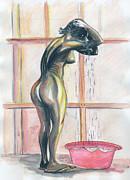 African Woman Print by Emmanuel Baliyanga