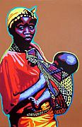 Gail Zavala - African Woman with Child