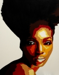 Silhouette Painting Originals - African Women in Conservation by Dave Sherwood-Adcock