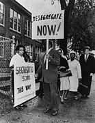 Candid Group Portraits Posters - Africans American Protest School Poster by Everett