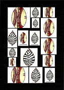 Shields Posters - AfricanTribal Shields Poster by Michael Vigliotti