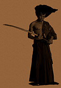 Illustrator Metal Prints - Afro Samurai Metal Print by Donell Hagan