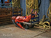Rope Posters - After a hard day at Sea Poster by Bob Orsillo