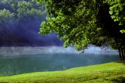 Mystical Landscape Art - After a warm summer rain by Susanne Van Hulst