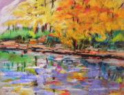 Autumn Landscape Drawings - After Autumn Shower by John  Williams