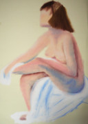 Shower Pastels Prints - After Bath Print by Andrey Komarcheuski