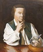 Copley Paintings - after Copleys Paul Revere by Edward Merrell