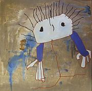 Childrens Art Drawings - After Derek 2 by Joanne Claxton